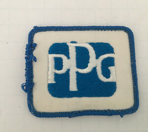Vintage Ppg Logo Clothing Patch Blue And White