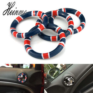 Red Union Jack Interior Door Latch Ring Cover For Bmw Mini Cooper Countryman R60