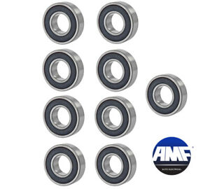 New Set Of 10 Bearings Two Side Rubber Seal 17 X 40 X 12mm 6203