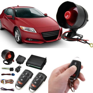 Car Door Locking 1 Way Anti thelf Alarm System Central 2 Remote Control Keyless
