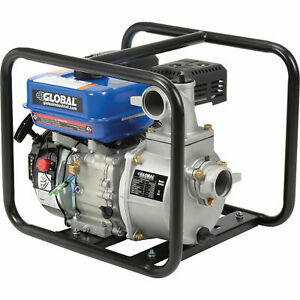7hp Portable Gasoline Water Pump 2 Intake outlet