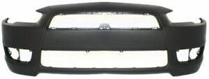 Front Bumper Cover For 2008 2015 Mitsubishi Lancer W Fog Lamp Holes Primed Capa