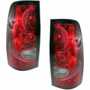 Pair Tail Light For 2004 2006 Chevrolet Silverado 1500 Lh Rh