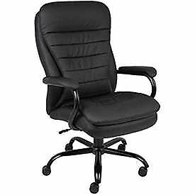 Big Tall Executive Chair Caresoft Upholstery Black