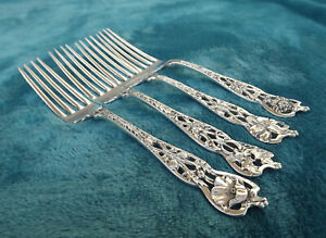 Four Mixed Floral Series No 5 By Watson Newell 6 3 8 Tea Forks No Mono Nice