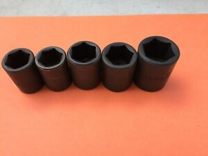 5 Pc S K Proto Shallow Impact 6 Pt Metric Sockets