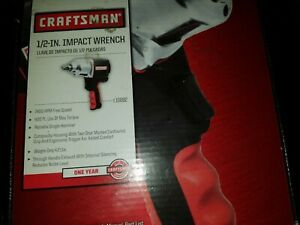 Craftsman Impact Wrench 1 2 In Air Tool Gun Portable High Torque Pistol New