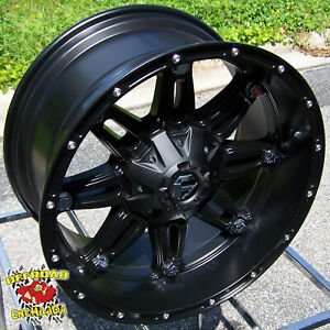 17x9 Black Fuel Hostage Wheels Rims 5 Lug Dodge Ram 1500 Jeep Wrangler Sahara