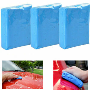 3pcs Magic Auto Car Clean Clay Bar Detailing Wash Cleaner Sludge Mud Remove Blue