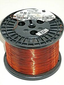 22 Awg Essex Magnet Wire Enameled Heavy Build 200 Degree Celsius 9 6 Lb Spool