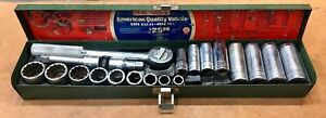 S k Tools 20 Pc 3 8 Drive Socket Set And Case Nascar Wood Brothers Usa