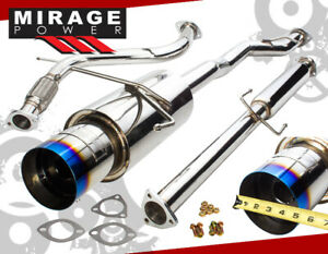 For 94 97 Accord 4cyl Performance Stainless Steel Muffler Catback Exhaust System