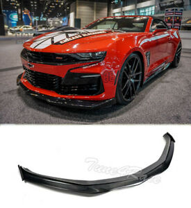 For 16 Up Camaro Ss Lt Ls Rs Front Lip Carbon Fiber W Side Pieces V8 T6 Style