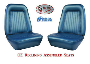 Fully Assembled Seats 1967 1968 Camaro Standard Oe Reclining Any Color