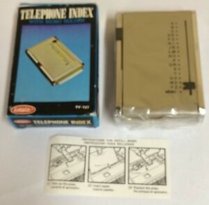 Vintage Eagle Telephone Index With Memo Holder Beige Nos In Box Ty 727