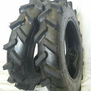 5 00 15 2 Tires Tubes 5 00x15 Road crew John Deere R1 Tractor Tires 6 Ply