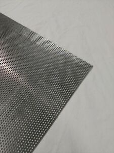 Perforated Metal Aluminum Sheet 1 8 Thickness 12 x 24 1 8 Hole 3 16 Stagger