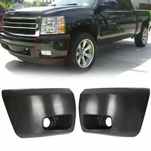 New Set Of 2 Front Bumper End Fog Light Holes For 07 13 Chevy Silverado 1500