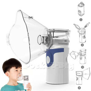 Kids Portable Ultrasonic Nebulize Mist Machine Inhaler Mouthpiece Mask Kits