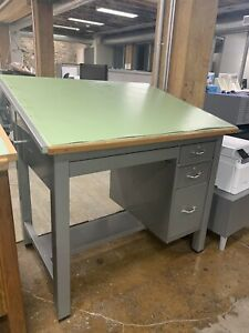 Vintage Mayline Drafting Table Standup Desk high Top Table Architect Engineer