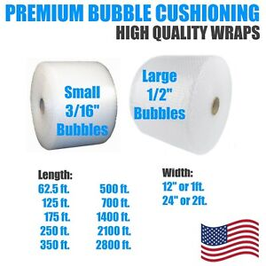 Bubble Sheets 1 2 Or 3 16 Bubble 12 Or 24 Wide Wrap Cushion Protection