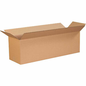 34 X 10 X 6 Long Cardboard Corrugated Boxes 65 Lbs Capacity Ect 32 Lot Of