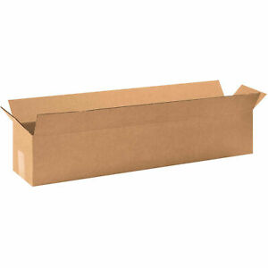 32 X 6 X 6 Long Cardboard Corrugated Boxes 65 Lbs Capacity Ect 32 Lot Of