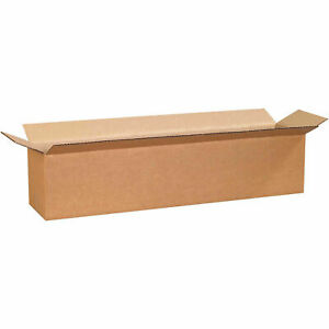 28 X 6 X 6 Long Cardboard Corrugated Boxes 65 Lbs Capacity Ect 32 Lot Of