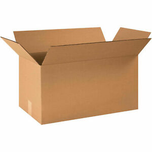 24 X 12 X 12 Long Cardboard Corrugated Boxes 65 Lbs Capacity Ect 32 Lot Of