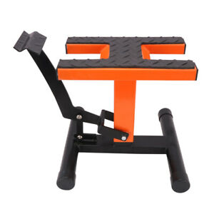 Adjustable Lift Jack Lift Stand Repair Table For Most Of Motorcycle Orange Black