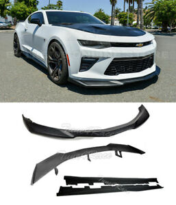 For 16 up Camaro Lt Ls Rs Ss Front Lip Side Skirts Rear Spoiler Zl1 Style