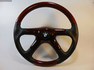 Bmw Nardi Wood Leather Steering Wheel 1964 To1976 Enamel Horn Button Alloy Hub