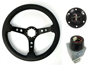 3 Spoke Black Steering Wheel 6 Hole W Pony Horn Button 1984 2004 Ford Mustang