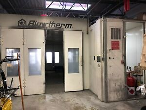Blowtherm 200 Paint Booth Complete With Prep Area And Ceiling Filter Nat Gas