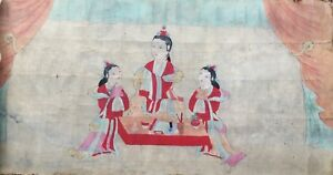 A Very Large Rare Korean Painting 19th C