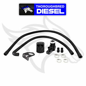 Mishimoto Baffled Oil Catch Can Kit For 08 10 Ford Powerstroke 6 4l