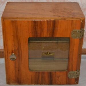 Original Vintage Medical Antiseptic Sterilizer Wood Cabinet Box