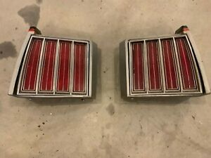 79 Pontiac Grand Prix Tail Light Assembly Assemblies Pair G Body Oem 78 79 80