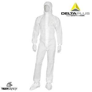 Delta Plus Dt221 Type 5 6 Disposable Chemical Overalls Coveralls Protective Suit