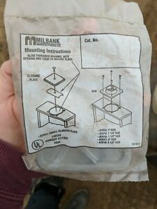 Two New Milbank A7551 Small Closure Plate 1r34