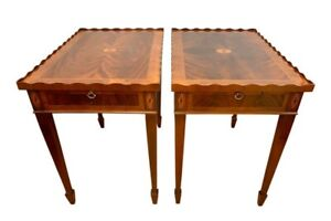 Pair Of Vintage Matching Mahogany End Tables By Hekman