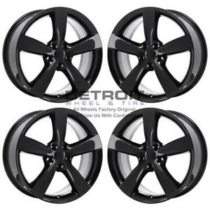 18 Dodge Dart Gloss Black Wheels Rims Factory Oem 2479 2013 2017 Set