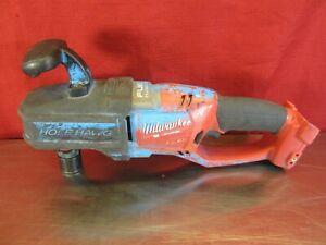 Milwaukee 2708 20 M18 Fuel Hole Hawg Quik lok Right Angle Drill bare Tool