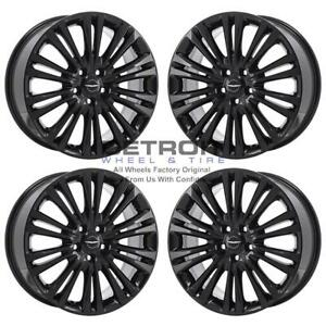 19 Chrysler 300 Awd Wheels Rims Factory Oem 2005 2019 Set 2419 Gloss Black