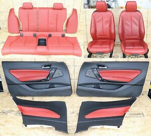All Interior Front Rear Seats Door Panels Console Oem Bmw F22 Heated Coral Red