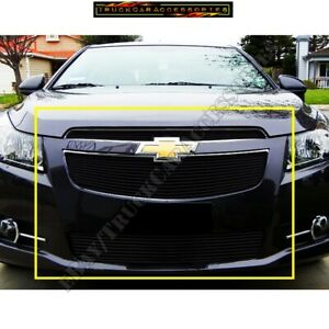For 2011 12 13 14 Chevy Cruze Ltz Rs Black Billet Grille Grill Inserts 3pcs Bolt