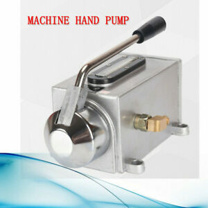 500cc Manual Lubricating Oil Pump Hand Lubrication Oiler Double 6mm Outlet Port