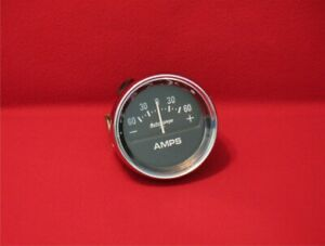 Auto Meter Auto Gage Amps Gauge 2318 With Chrome Bezel New 2 5 8