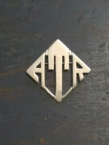 Vintage Sterling Silver Art Deco Pin Brooch Leonore Doskow Initials Handmade