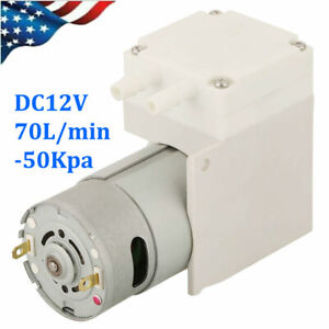 Dc 12v Mini Vacuum Pump Negative Pressure Suction Pump 7l min 50kpa Low Noise
